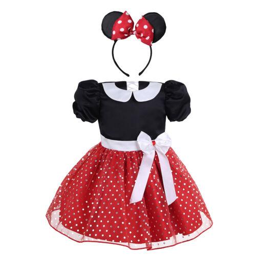 Baby Girls Cartoon Costume Kids Halloween Party Tutu Fancy Dress Headband Outfit