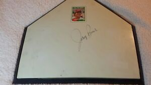 Terrific Details About Johnny Bench Cincinnati Reds Hof Signed Mlb Home Plate Download Free Architecture Designs Rallybritishbridgeorg