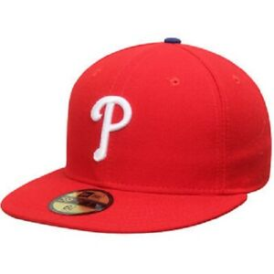 huge selection of 8a4b8 d6602 Image is loading Philadelphia-Phillies-Fitted-New-Era-59FIFTY-On-Field-
