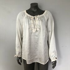 Lane Bryant Size 14//16 Yellow ShortSleeve Crinkle Cotton Embroidered Peasant Top