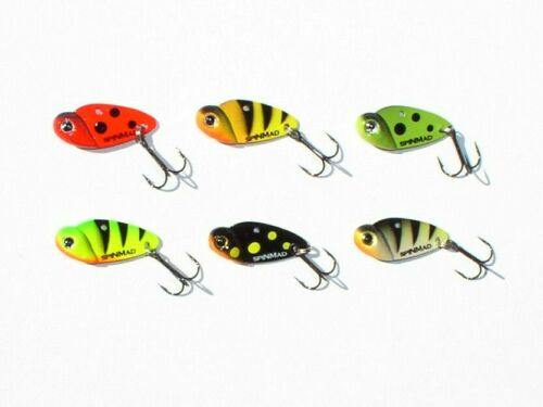 Künstliche Motte 2,5 Gramm-6 Farben Blatt-Pilker Spinner Jig Barsch Cicade