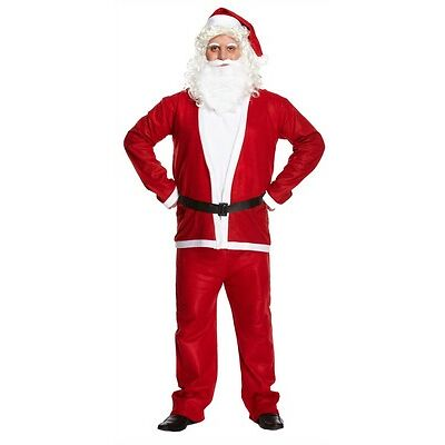 Adult Men Mens Santa Claus One Size Christmas Party Fancy Dress Costume