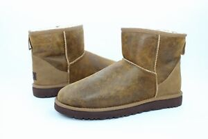 dd41a864e30 Details about UGG For Men Classic Mini Bomber Jacket Brown Suede Wool Boots  Men Size 8 US