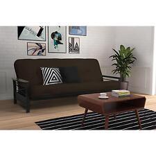 8   coil mattress  u0026 wood armrest full futon frame home living room furniture dhp charleston vintage futon brown forniture room sleeping      rh   ebay