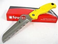 SPYDERCO C89SYL Yellow ATLANTIC SALT Serrated H-1 Knife