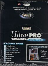 "200 ULTRA PRO 4"" x 6"" Archival 3 Pocket Photo Pages COUPON Sleeve"