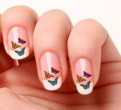 20 Nail Art Decals Transfers Stickers #317 - Butterflies