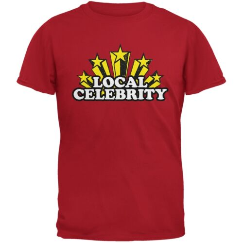 Local Celebrity Red Adult T-Shirt
