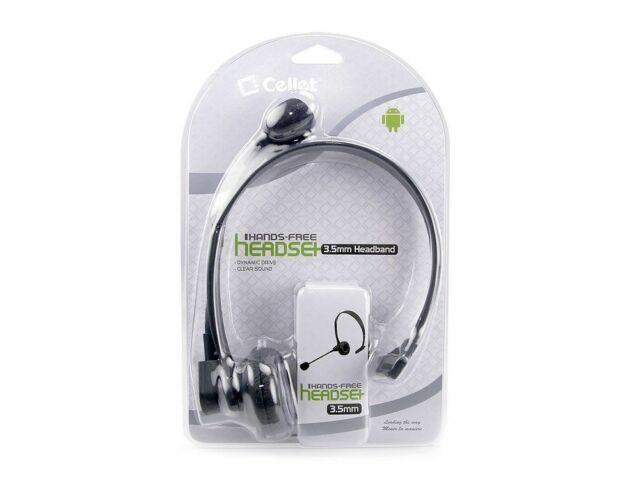 Cellet Over-The-Head Operator Hands Free Headset 3.5mm Samsung Galaxy S 2 3 4 5
