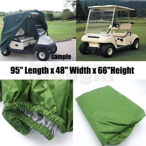 "95"" Green 2 Passenger Golf Cart Protect Cover Waterproof For Yamaha EZ Club Cart 732140189146"
