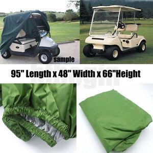 95-034-Green-2-Passenger-Golf-Cart-Protect-Cover-Waterproof-For-Yamaha-EZ-Club-Cart