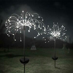 LED-Solar-Powered-Firework-Starburst-Stake-Light-Warm-White-Garden-Outdoor-Light