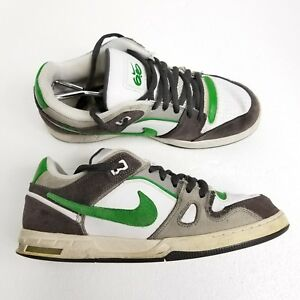 ea4a8aa0bb9a Nike Zoom Oncore 6.0 Mens Skateboard Shoes Size 11 White Green ...