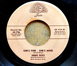 R-amp-B-vocal-group-45-JIMMY-RICKS-amp-RICKATEERS-She-039-s-Fine-She-039-s-Mine-Unbeliever