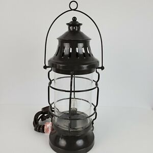 Lantern-Desktop-Lamp-Portable-Luminaire-Lighting-Indoor-New-14-Inch-Dark-Gray