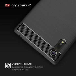new arrival 88923 9727b For Sony Xperia XZ XZS /F8332 F8331 Shockproof Armor Carbon Fiber ...
