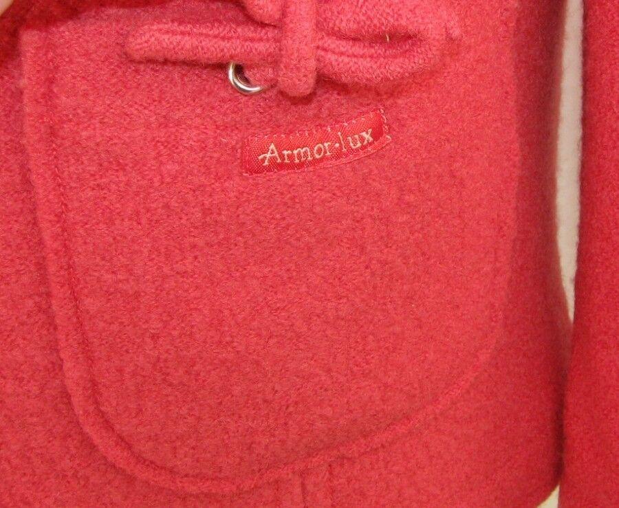 ARMOR LUX LUX LUX - VESTE M. LONGUES 100% LAINE pink SAUMON size 42 - EXCELLENT ETAT 45218f