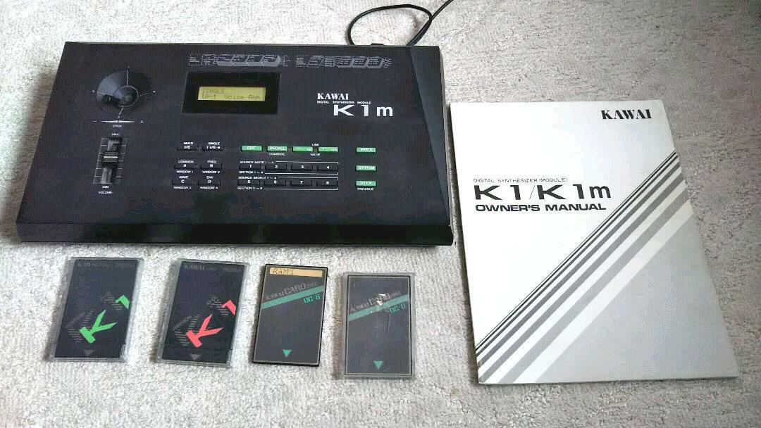 Kawai K1m K-1m Desktop Digital SyntheGrößer Modul Getestet Arbeits Gebraucht