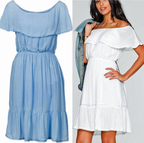 dames: kleding süsses kleid sommerkleid crinkle hellblau