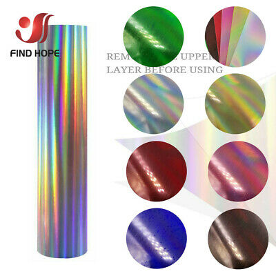 Multicolor Holographic Heat Transfer Vinyl HTV Film For Clothing Bags Shirts DIY