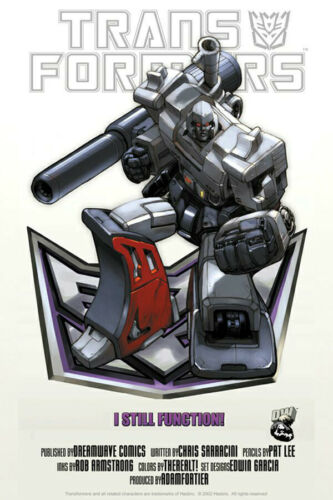 TRANSFORMERS POSTER Megatron on Deception shield Poster 27 x 39.5 G1 Classic