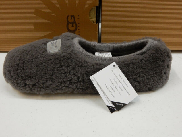 63e9e525400 UGG Womens Slippers Birche Grey Size 12