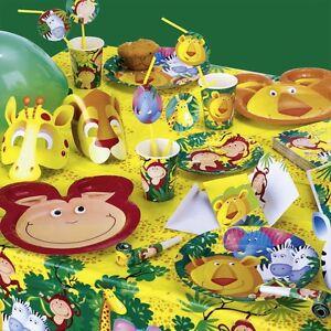 Safari Dschungel Deko Kinder Party Geburtstag Tischdeko Set Kinder