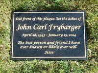 12 X 18 Engraved Granite Memorial Plaque Custom Lettering Up To 300 Characters