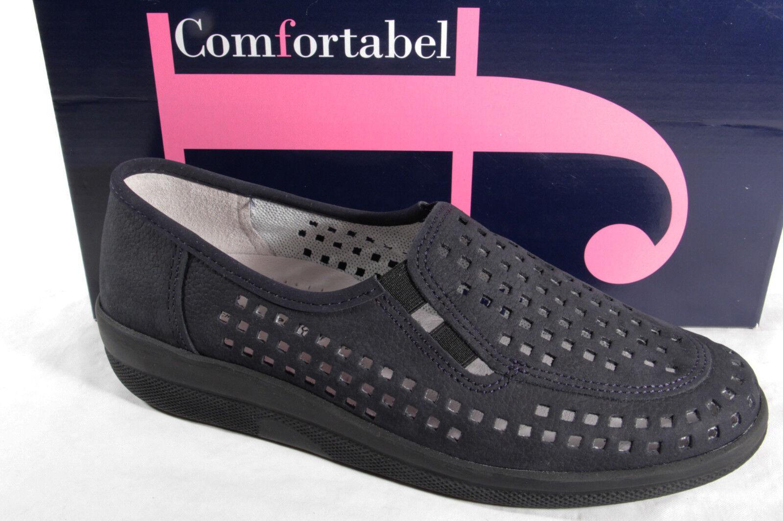 risparmiare fino all'80% Comfortabel Comfortabel Comfortabel Donna Mocassini Ballerina scarpe da ginnastica, Scarpe Basse pelle Blu Nuovo  liquidazione fino al 70%