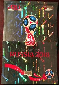 Panini-FIFA-World-Cup-2018-Russia-Foil-Stickers-5-and-6-Rare-Free-Shipping
