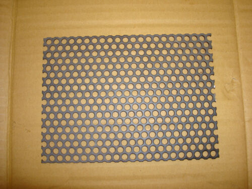 """Perforated steel plate 3mm thk  5/""""x 6/"""""""