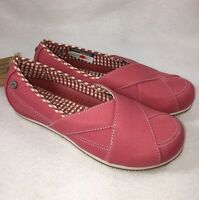 Mozo Women's Sport Canvas Work Shoe Rose Pink Style 3741 Slip / Oil Resistant