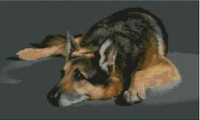 "German Shepherd Alsation Cross Stitch Kit 15"" x 9"" 38cm x 23cm D2445"