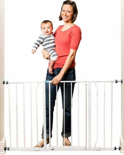 Regalo Extra Wide Metal Gate Easy Open Walk Through Tall Baby Safety