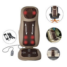 Massage Cushion Neck Back Thigh Shoulder Massager Heat Vibrat Seat Chair Home