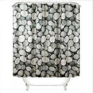 Image Is Loading Pebbles Pattern Family Bathroom Shower Curtain Simple Polyester