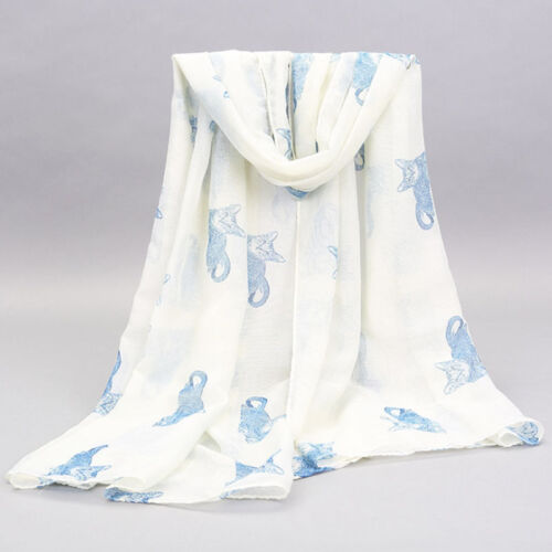Cats  Print Scarf Neck Warm Shawl Wrap Stole 5 Colours  Available