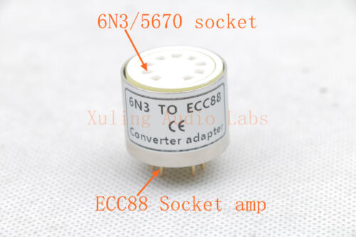 Metal case 1pc Gold plated 5670 6N3 WE396A intead ECC88 6922 6DJ8 tube adapter