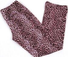 Women's Pants Size Large Pink Cheetah Leopard Soft Lipservice Los Angeles USA