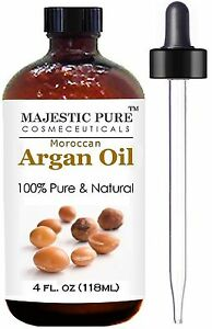 Moroccan-Argan-Oil-for-Hair-and-Skin-From-Majestic-Pure-100-Natural-Orga-New