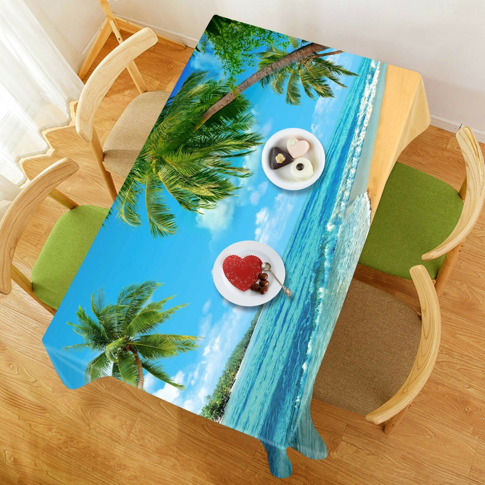 3D Palm Tree Sky 341 Tablecloth Table Cover Cloth Birthday Party Event AJ Lemon