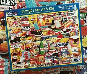 Used White Mountain 1000 Piece Puzzle - Things I Ate As A Kid - VGC!