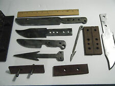 VINTAGE KNIFE MAKING STEEL BLANKS AND JIGS, Fixed Blade