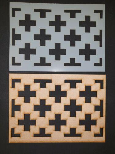 Decorative Panel Pattern Screening Grille MDF Stencil scrapbook Embellishment #6