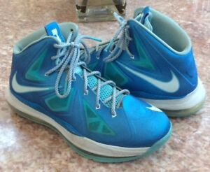 newest 73900 40412 Image is loading Nike-Lebron-X-10-Boy-s-Blue-Windchill-