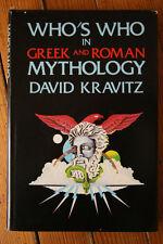 Who's Who in Greek and Roman Mythology by David Kravitz 1976 HC/DJ