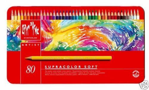 Caran D/'ache Supracolor Watercolour Pencil 80 Colour Tin