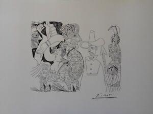 Pablo Picasso (Según ) - Muse Para Caballo - Litografía Erótica Firmada #1200ex