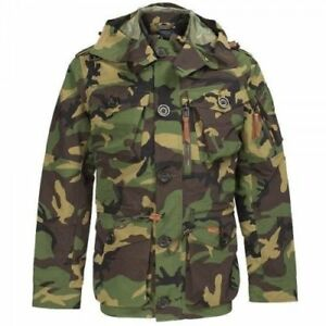 a98eb527b4761 Details about Polo Ralph Lauren Men's Military Army Camo Hooded Utility  Jacket Vintage Large