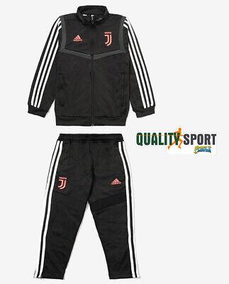 Adidas Juventus Tuta Ufficiale Bambino Originale Nero Bianco DX9115 20192020 | eBay